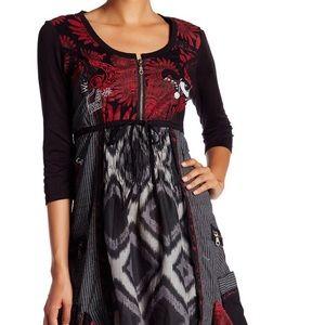 Desigual Abeth Dress Art to Wear Zip Ruffle